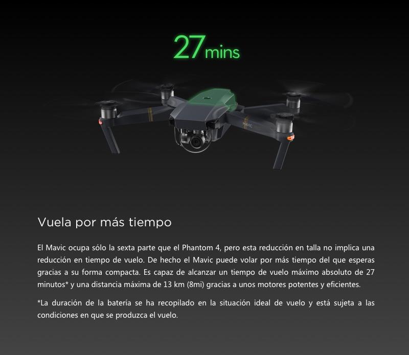 DJI MAVIC PRO - 27 MINUTOS DE BATERÍA