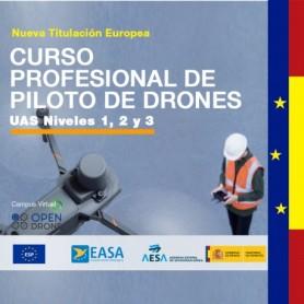 CURSO PROFESIONAL DE PILOTO DE DRONES - NIVELES 1,2 Y 3 - CATEGORIA ESPECÍFICA