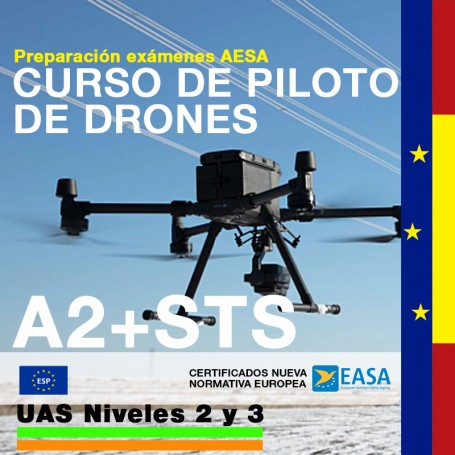 CURSO DE PILOTO DE DRONES A2+STS - CATEGORIA ESPECÍFICA