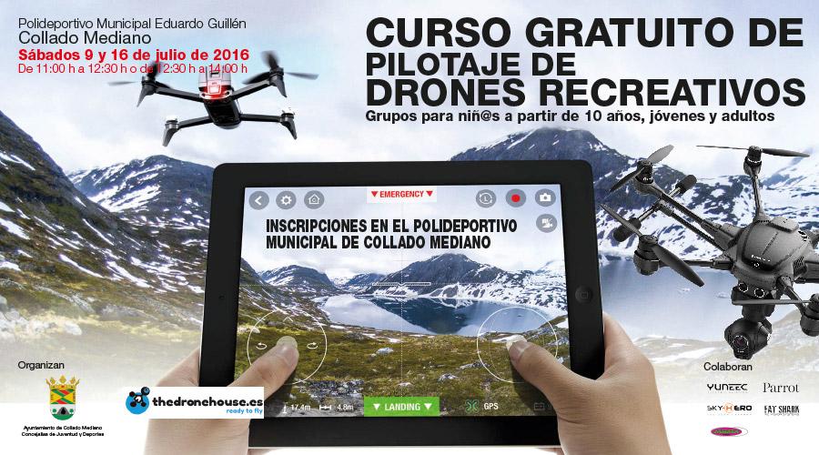 Curso Gratuito de pilotaje de Drones Recreativos